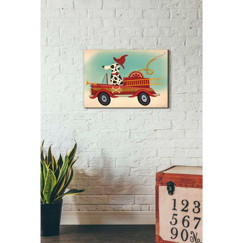 'K9 Fire Department' by Ryan Fowler, Giclee Canvas Wall Art