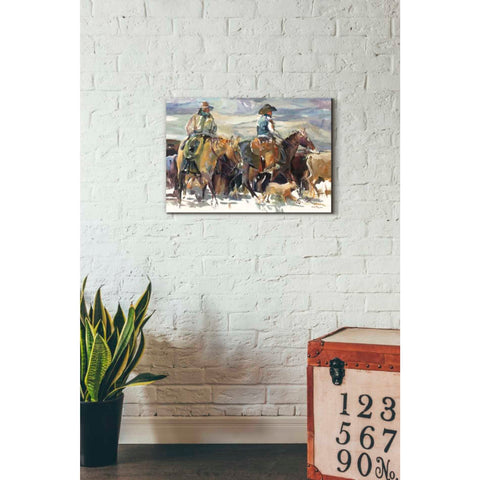 'The Roundup' by Marilyn Hageman, Giclee Canvas Wall Art