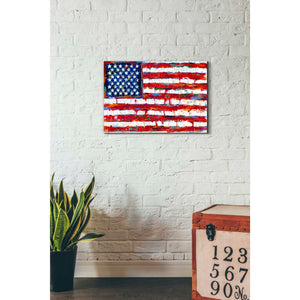 'Dramatic Stars & Stripes' by Carolee Vitaletti Giclee Canvas Wall Art