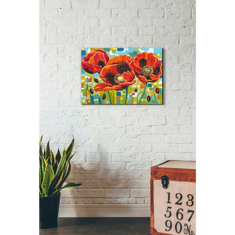 Image of 'Vivid Poppies III' by Carolee Vitaletti Giclee Canvas Wall Art