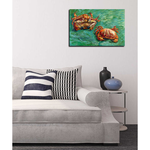 'Two Crabs' by Vincent Van Gogh Canvas Wall Art,18 x 26