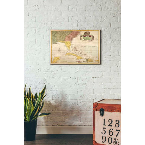 Image of 'Map of Carolina, Florida & the Bahama Islands' by Mark Catesby Giclee Canvas Wall Art