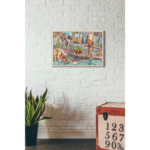 'Modern Map of Montreal' by Nikki Galapon Giclee Canvas Wall Art