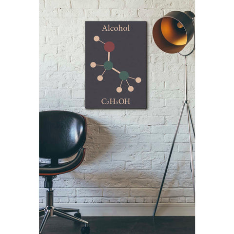'Alcohol Molecule' Giclee Canvas Wall Art