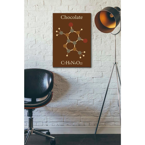 Image of 'Chocolate Molecule' Giclee Canvas Wall Art