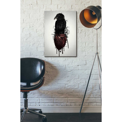 """Raven and Heart Grenade"" by Nicklas Gustafsson, Giclee Canvas Wall Art"