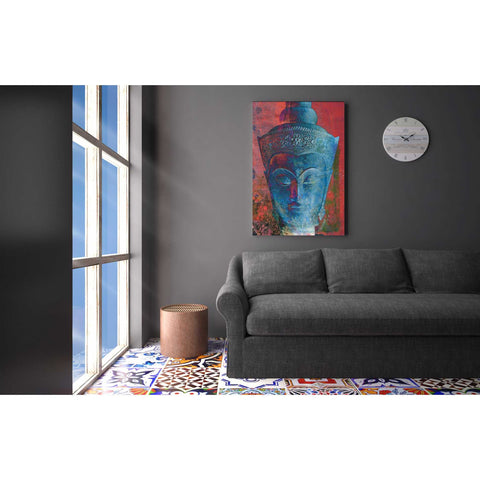 "Image of ""Blue Buddha Head"" by Elena Ray Giclee Canvas Wall Art"