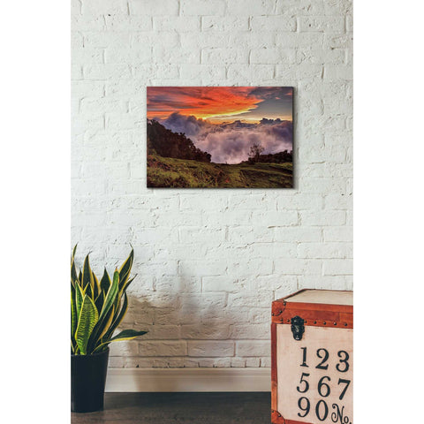"""Valley Clouds at Sunset,"" Giclee Canvas Wall Art"