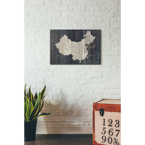'Old World Map China' by Wild Apple Portfolio, Canvas Wall Art,18 x 26