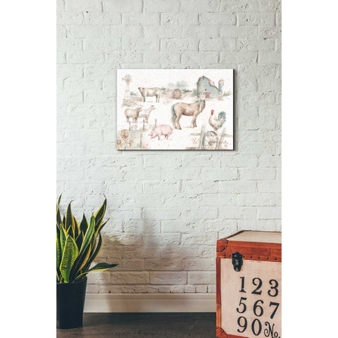 """Farm Friends XIII"" by Lisa Audit, Giclee Canvas Wall Art"