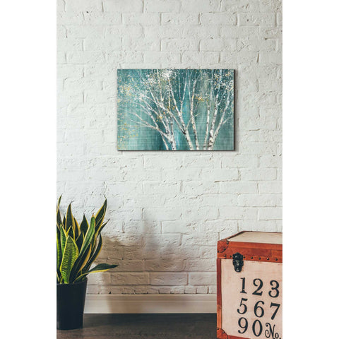 "Image of ""Blue Birch"" by Julia Purinton, Giclee Canvas Wall Art"