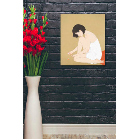'A Woman Painting a Pedicure' by Sai Tamiya, Giclee Canvas Wall Art