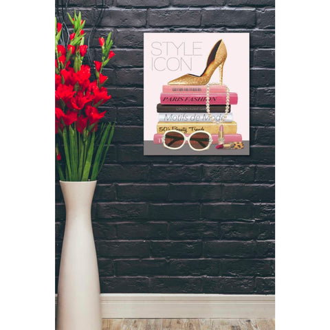 Image of 'Paris Style II Gold and Black' by Marco Fabiano, Giclee Canvas Wall Art