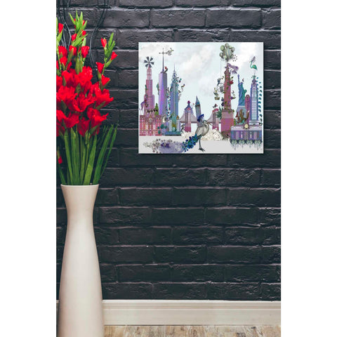 'New York City, Menagerie' by Fab Funky Canvas Wall Art,24 x 20