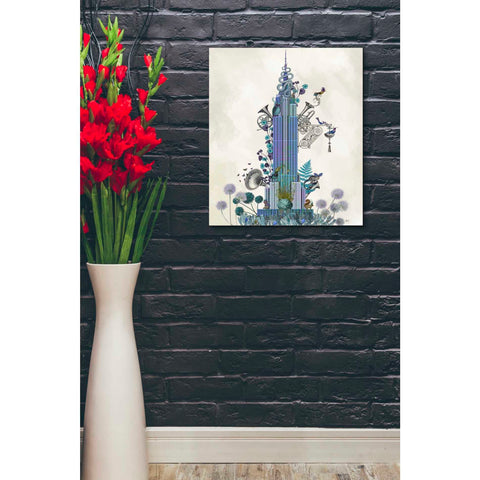'New York Empire State Building, Menagerie' by Fab Funky Giclee Canvas Wall Art
