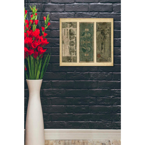 'Antique Currency V' by Vision Studio Giclee Canvas Wall Art