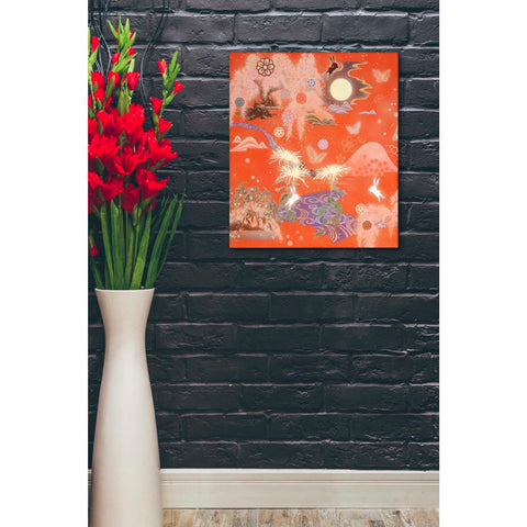 Image of 'Moon and Rabbit' by Zigen Tanabe, Giclee Canvas Wall Art