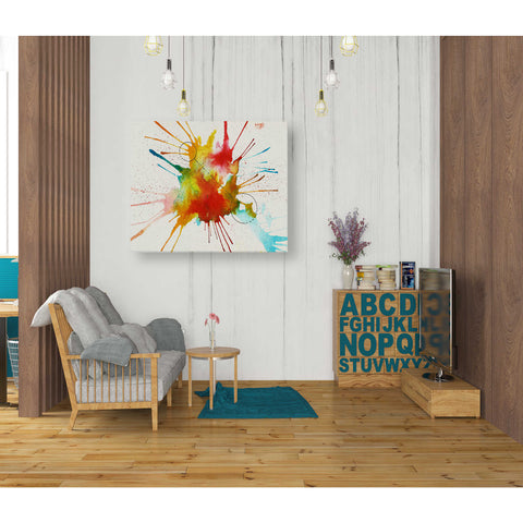 'Watercolor Splat' by Craig Snodgrass, Giclee Canvas Wall Art