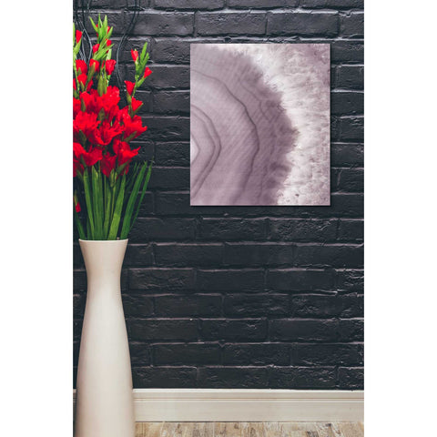 "Image of ""Agate Geode II PLUM"" by Wild Apple Portfolio, Giclee Canvas Wall Art"
