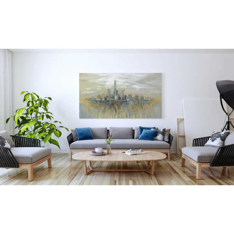 """Manhattan Fog"" by Silvia Vassileva, Canvas Wall Art,20 x 40"