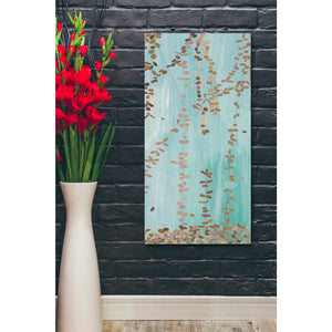 'Trailing Vines II Blue' by Candra Boggs, Giclee Canvas Wall Art