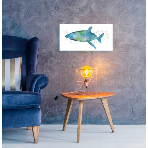 'Watercolor Shark I' by Linda Woods, Giclee Canvas Wall Art