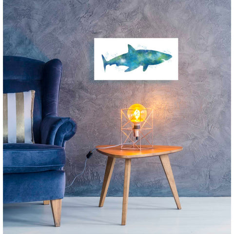 'Watercolor Shark III' by Linda Woods, Giclee Canvas Wall Art