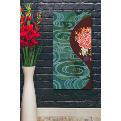 Image of 'Running Water I' by Zigen Tanabe, Canvas Wall Art,20 x 40
