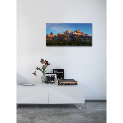 "Image of ""Tetons First Light"" by Darren White, Giclee Canvas Wall Art"