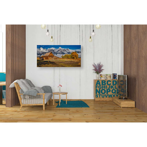 'Warm Morning Light in the Tetons' by Darren White, Canvas Wall Art,20 x 40