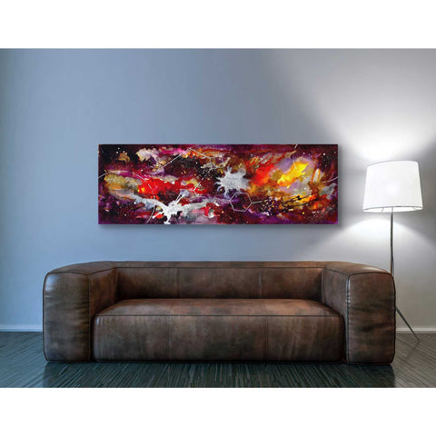 Image of 'Watercolor Nebula Burgundy' by Craig Snodgrass, Canvas Wall Art,20 x 60