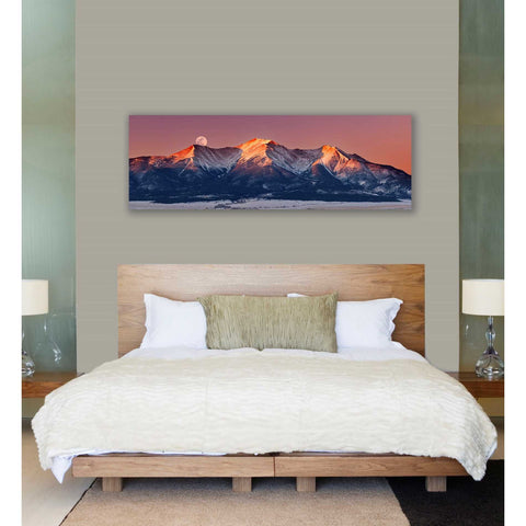 Image of 'Mount Princeton Moonset' by Darren White, Canvas Wall Art,20 x 60