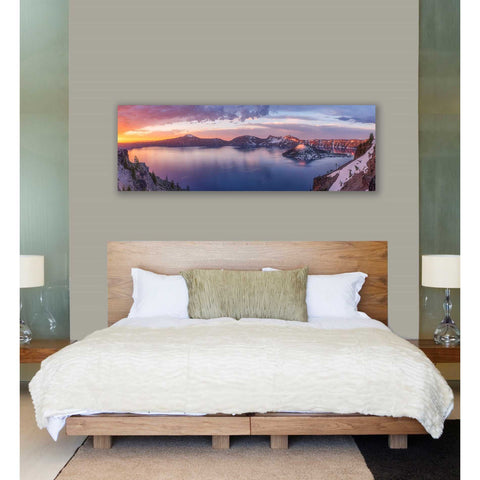 Image of 'Volcanic Sunset' by Darren White, Canvas Wall Art,20 x 60