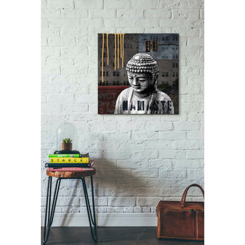 'Urban Buddha III' by Linda Woods, Canvas Wall Art,26 x 26