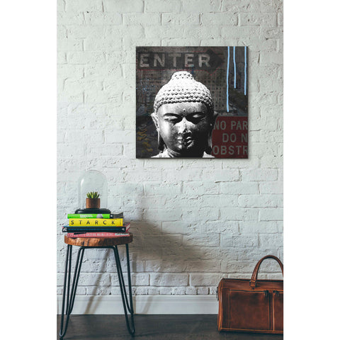 'Urban Buddha IV' by Linda Woods, Canvas Wall Art,26 x 26