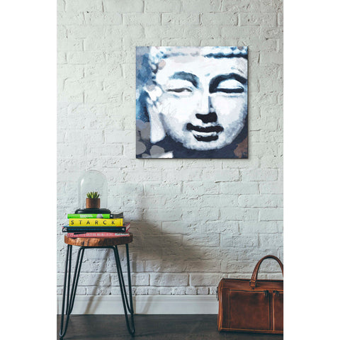 'Peaceful Buddha II' by Linda Woods, Canvas Wall Art,26 x 26