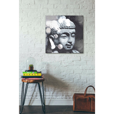 'Peaceful Buddha III' by Linda Woods, Canvas Wall Art,26 x 26