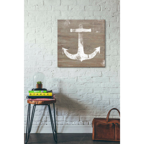 'White Anchor on Natural' by Linda Woods, Giclee Canvas Wall Art
