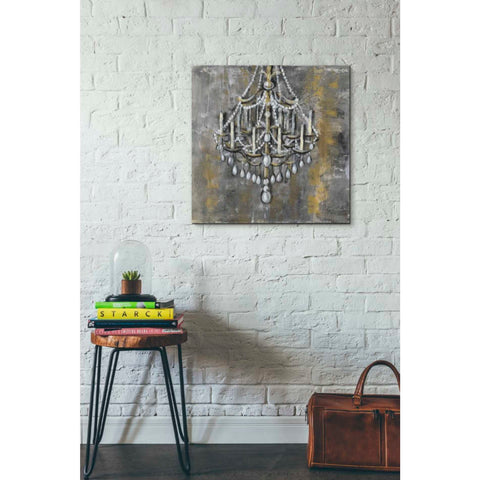 """Vintage Chandelier I"" by Silvia Vassileva, Giclee Canvas Wall Art"