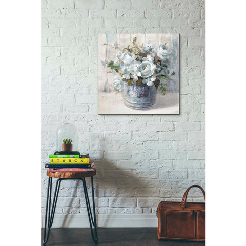 Image of 'Garden Blooms I Blue Crop' by Danhui Nai, Canvas Wall Art,26 x 26