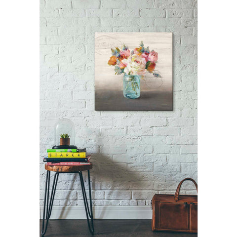 Image of 'French Cottage Bouquet II Mothers' by Danhui Nai, Canvas Wall Art,26 x 26