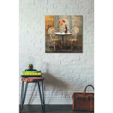 "Image of ""Meet Me at Le Cafe I"" by Danhui Nai, Giclee Canvas Wall Art"
