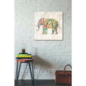 'Boho Paisley Elephant II v2' by Danhui Nai, Canvas Wall Art,26 x 26