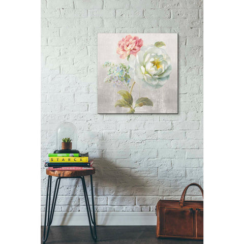 """Textile Floral Square I No Lace"" by Danhui Nai, Giclee Canvas Wall Art"