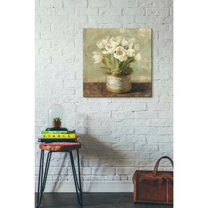 'Hatbox Tulips' by Danhui Nai, Canvas Wall Art,26 x 26