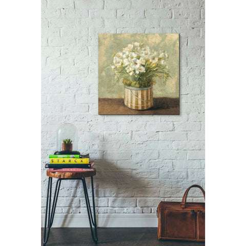 "Image of ""Hatbox Freesia"" by Danhui Nai, Giclee Canvas Wall Art"