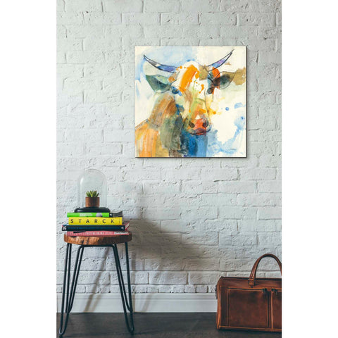 Image of 'Happy Cows I' by Albena Hristova, Canvas Wall Art,26 x 26