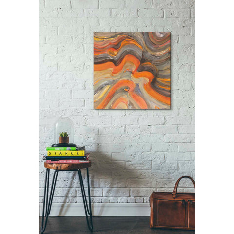 Image of 'Floating Lava' by Albena Hristova, Canvas Wall Art,26 x 26