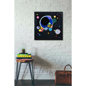 'Several Circles' by Wassily Kandinsky Canvas Wall Art,26 x 26