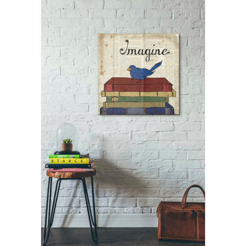 Image of 'Bird Inspiration Imagine' by Elyse DeNeige, Giclee Canvas Wall Art
